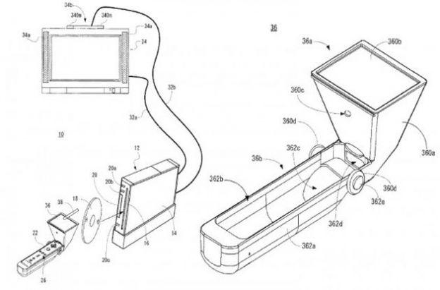 accessori nintendo wii touchpad wiimote brevetto
