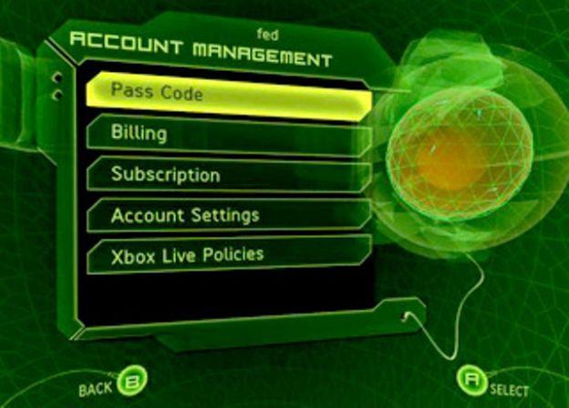 account xbox live sicurezza privacy password