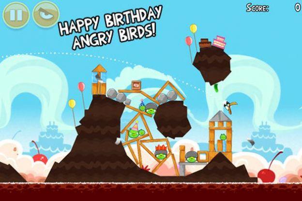angry birds compleanno aggiornamento