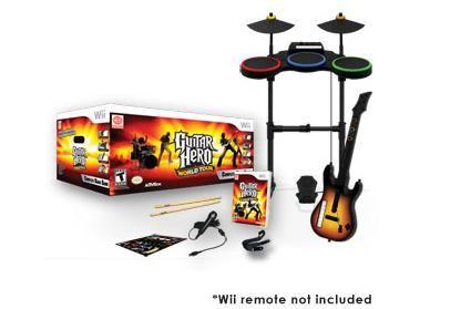 Guitar Hero World Tour band kit completo