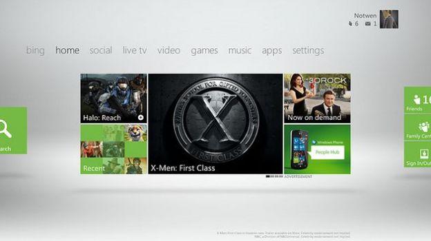 nuova dashboard xbox 360