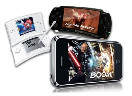 Sony PSP Nintendo DS iPhone