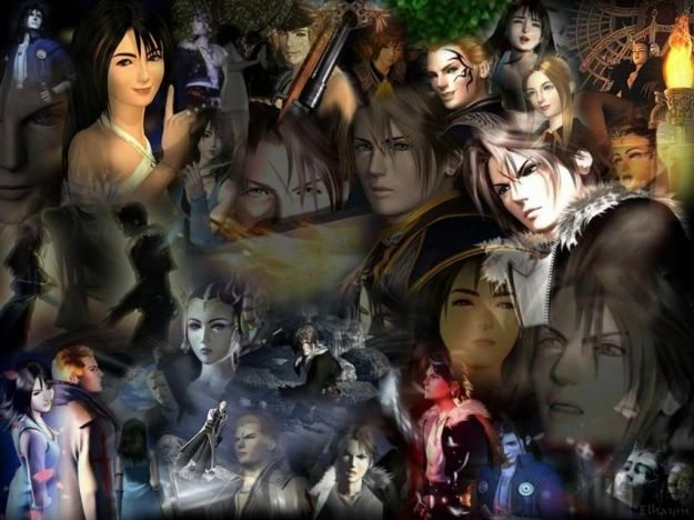 Collage di Final Fantasy VIII