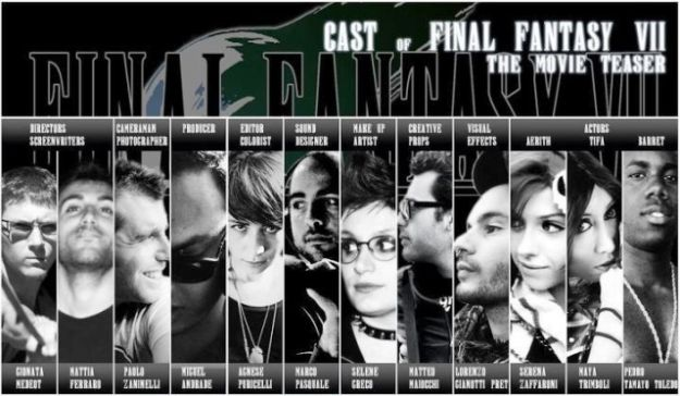 Il cast di Final Fantasy VII the movie