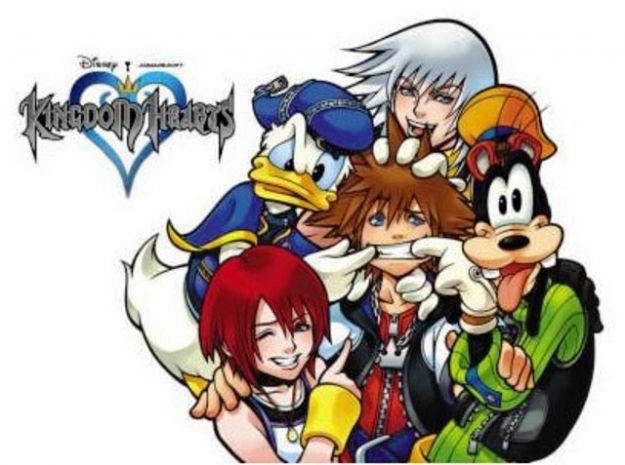 Pippo Sora Rikku Kairi e Paperino di Kingdom Hearts