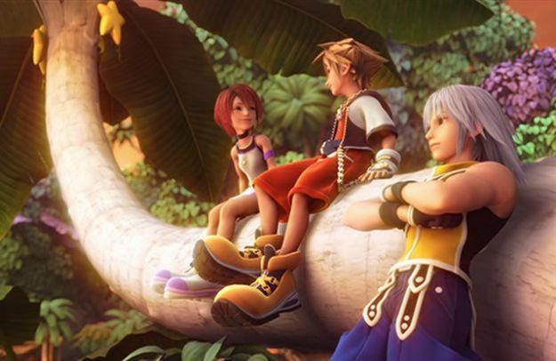 Sora Riku e Kairi di Kingdom Hearts