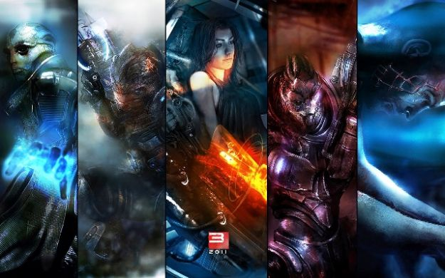 Un collage di Mass Effect 3