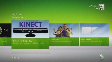 Xbox 360: Microsoft aggiorna la dashboard per Kinect