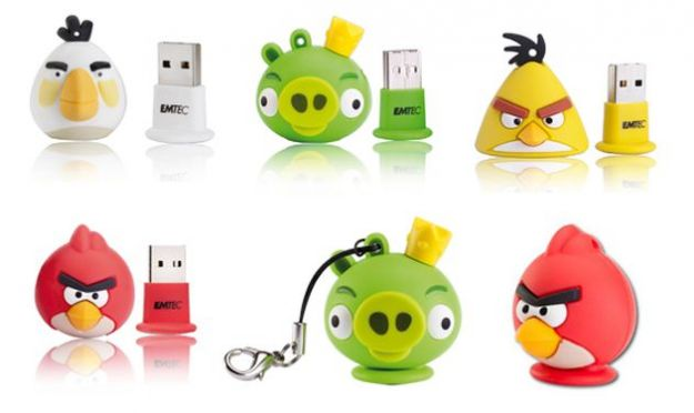 Angry Birds: i simpatici pennuti diventano delle colorate flashdrives