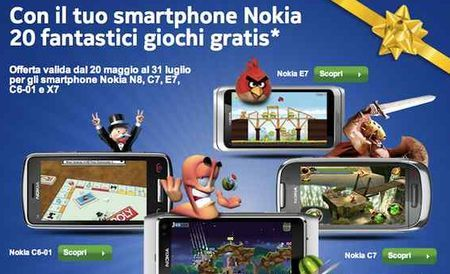 Angry Birds e tanti altri giochi divertenti sono gratis su Ovi Store