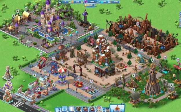 Coasterville: gioco gratis su Facebook