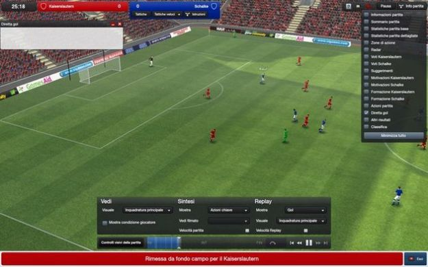 Football Manager 2012 ha il supporto per il 3D