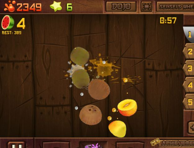 Fruit Ninja è anche online su Facebook con Frenzy