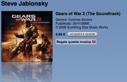 Gears of War 2 – Colonna sonora