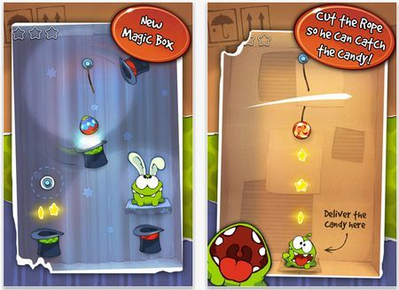 Giochi per iPhone: su App Store il nuovo update per Cut the Rope