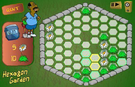 giochi logica online hexagon garden