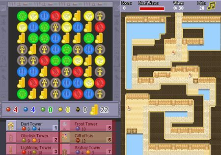 Giochi online gratis in flash: Puzzle Defense