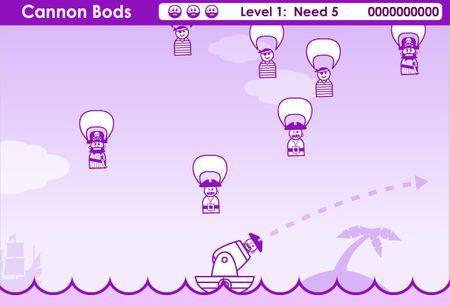 giochi puzzle online cannon bods