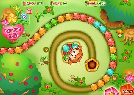 giochi puzzle online zuma bonbon foliz