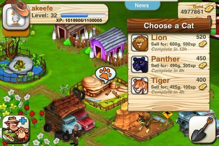 Giochi iPhone: We Farm Safari, gioco social gratis