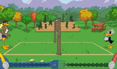 giochi sport online duffy duck volleyball