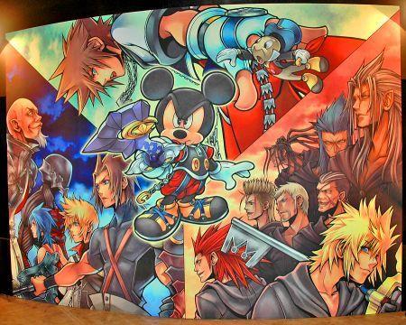 Collage della celebre saga Kingdom Hearts!