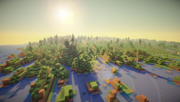 Minecraft per ricreare il mondo in scala 1:1500