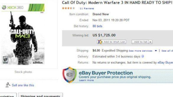 modern warfare 3 anteprima ebay