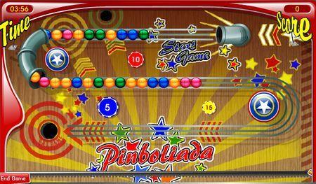 Giochi online: Pinboliada, puzzle in stile Zuma