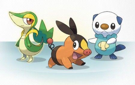 pokemon bianco e nero starter immagini