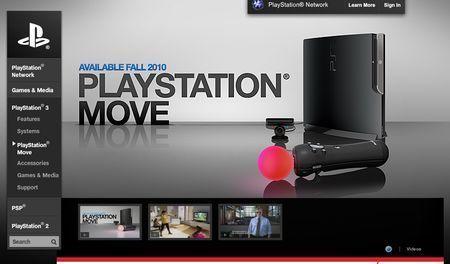 PS3 PlayStation Move: online il sito ufficiale