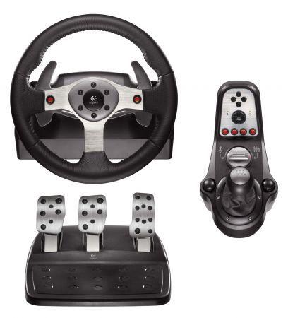 volante logitech g25 racing wheel recensione per pc ps2 e ps3 games4all. Black Bedroom Furniture Sets. Home Design Ideas