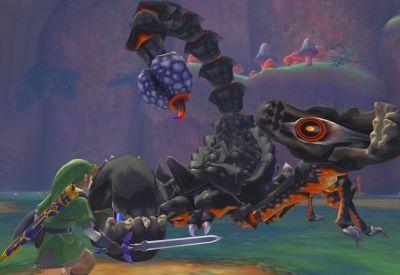 Zelda Skyward Sword, primo scontro con uno Scorpione Gigante