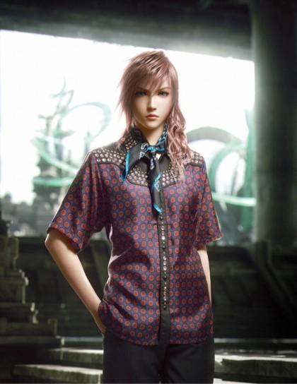 Final Fantasy XIII-2, Lightning in posa per Prada