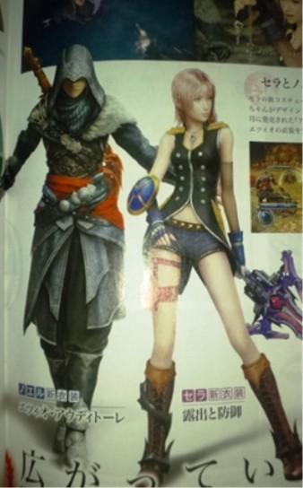 Final Fantasy XIII-2: i l'Cie sfilano, Serah e Noel come Ezio Auditore
