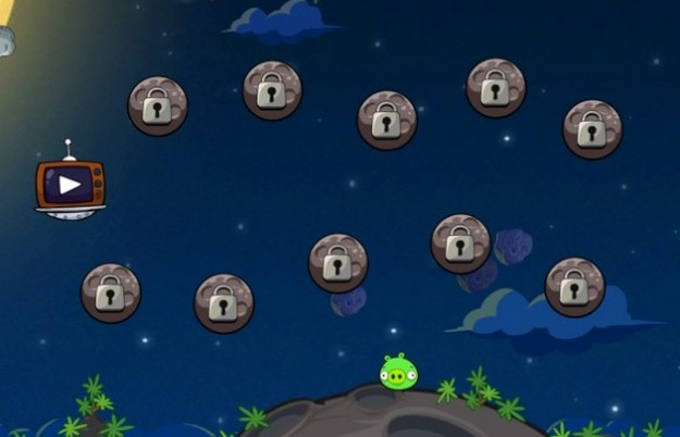 Angry Birds Space: menu