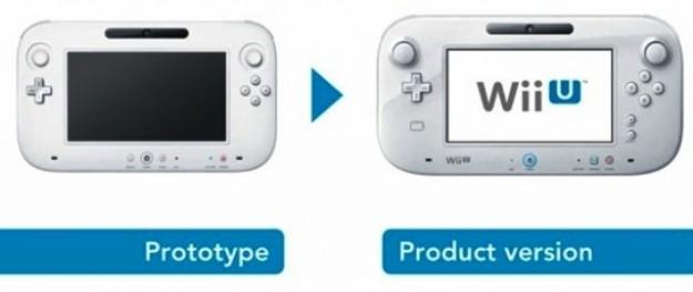 Prototipo e modello finale di Wii U gamepad