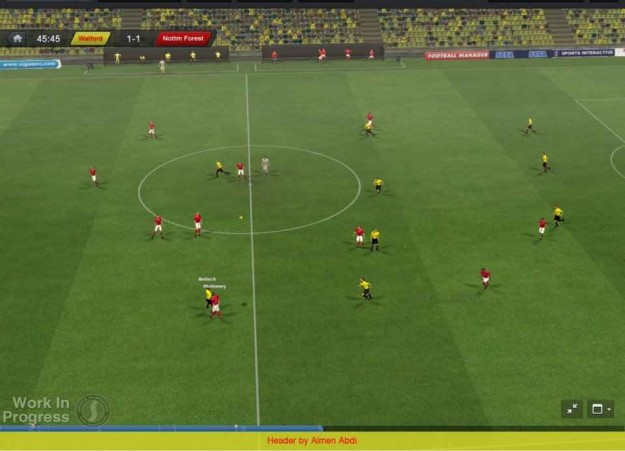Football Manager 2013: campo