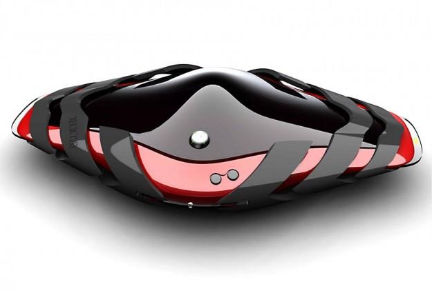 Un concept della nuova Xbox rosso e nero