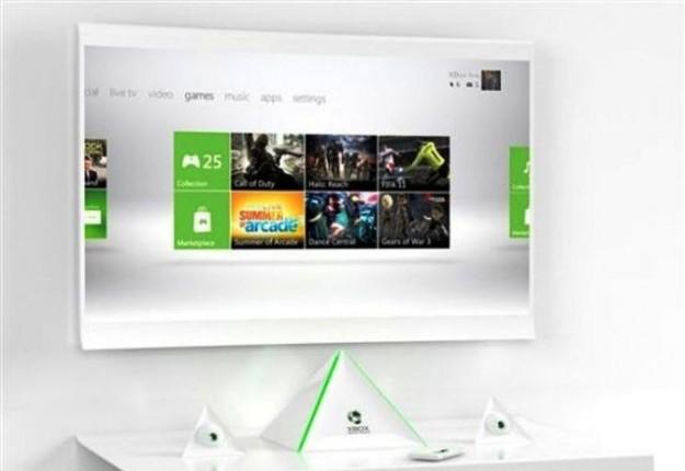 Un concept di Xbox 720 con televisore