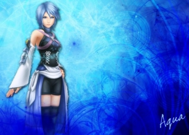 Aqua di Kingdom Hearts Birth By Sleep