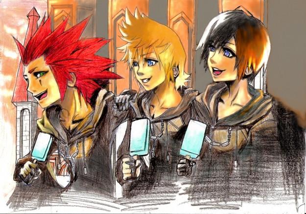 Axel Roxas e Kairi protagonisti di Kingdom Hearts 358 2 Dyas