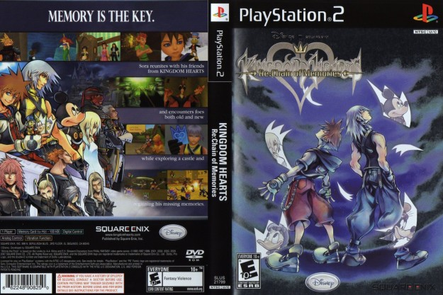 Cover di Kingdom Hearts Chain of Memories per PS 2