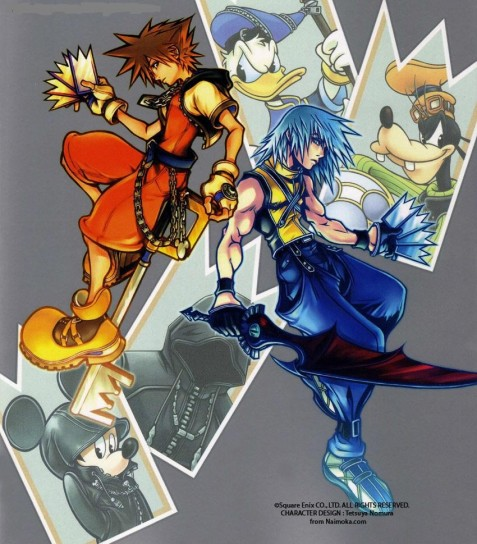 Sora e Riku in Kingdom Hearts Chain of Memories