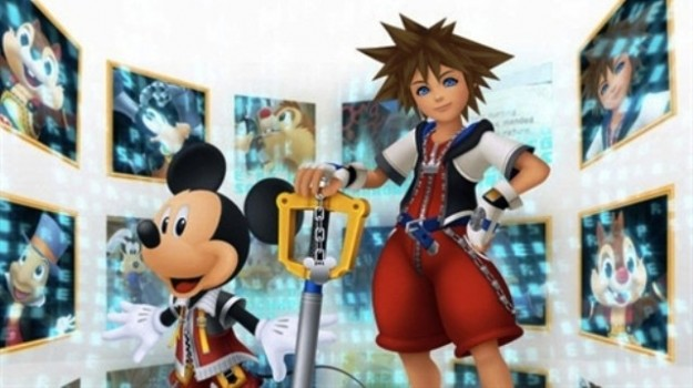 Sora e Topolino in Kingdom Hearts Re Coded