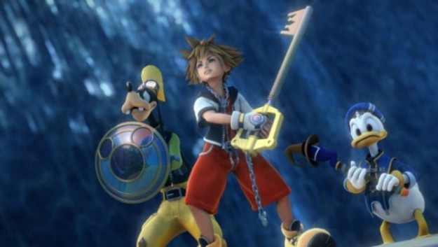 Sora Paperino e Pippo in Kingdom Hearts 2