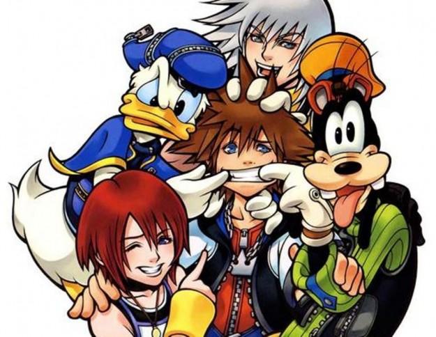 Sora Riku Kairi Paperino e Pippo in Kingdom Hearts