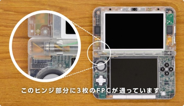 L'interno di Nintendo 3DS XL