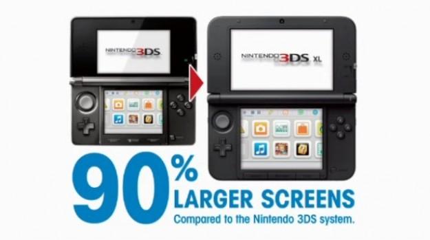 Nintendo 3DS e 3DS XL  a confronto