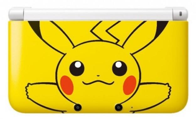 Nintendo 3DS XL con Pikachu visto da vicino